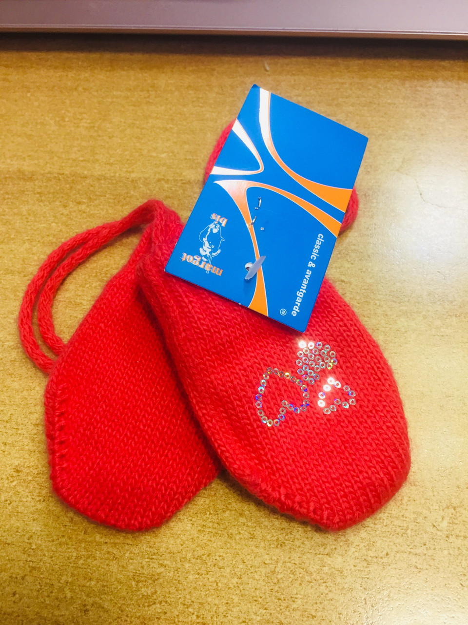 Варежки для новорожденных на девочек Margot Польша shinen оранжевый