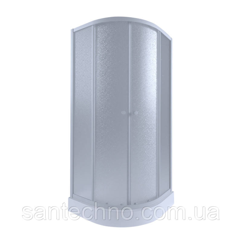 Угловая душевая кабина Q-tap  Presto WHI1099AP5 Pear + поддон Uniarc 309915