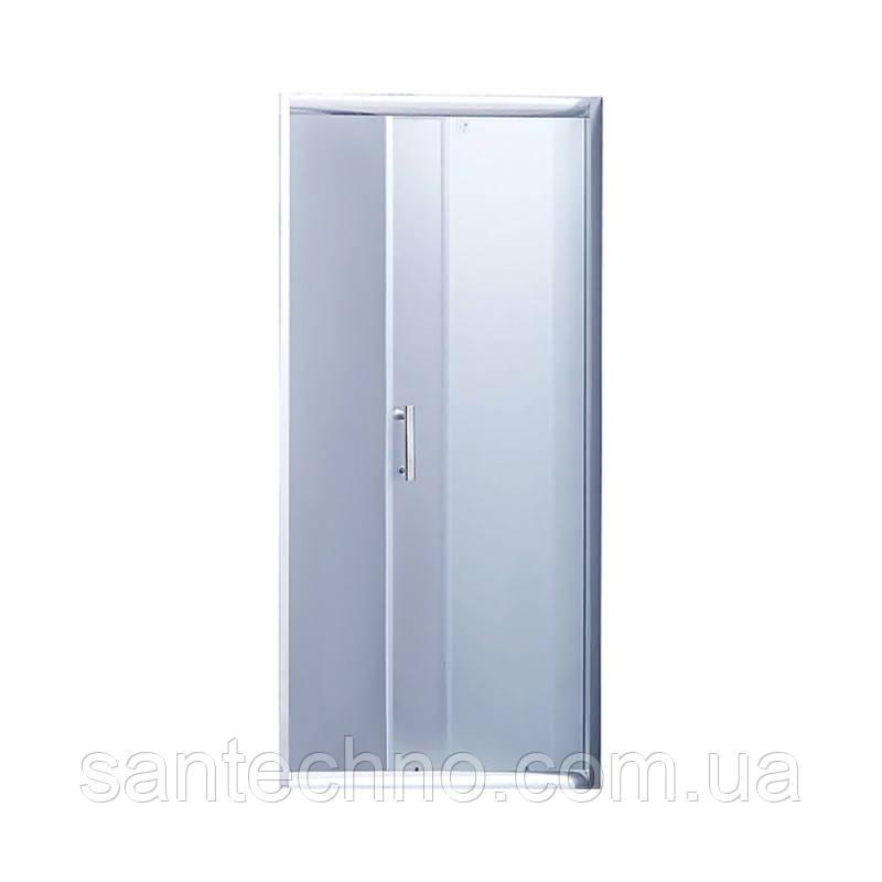 Душевая дверь в нишу Lidz Zycie SD90x185.CRM.FR Frost, стекло 5мм