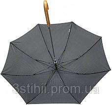 Зонт-трость Doppler 740167-2 полуавтомат Серый квадрат, фото 3