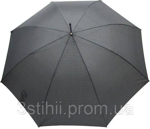 Зонт-трость Doppler 740167-2 полуавтомат Серый квадрат, фото 2