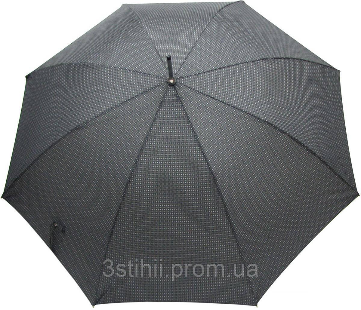 Зонт-трость Doppler 740167-2 полуавтомат Серый квадрат