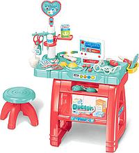 Доктор 660-62 стол 77 см, стульчик, компьютер, инструменты, 22 предмета, звук, свет