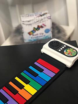 Детское  пианино гибкое цветное 37 клавишь