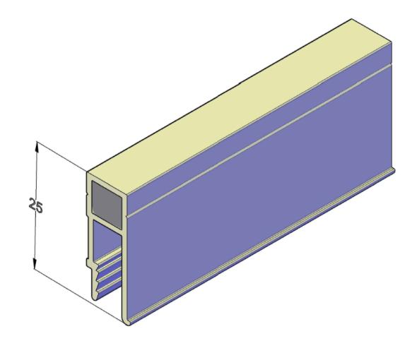 Алюминиевый профиль П-образный для натяжных потолков 2,5 м