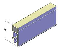 Алюминиевый профиль П-образный для натяжных потолков 2,5 м, фото 1