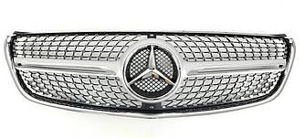 Решітка радіатора Mercedes w447 V-Class стиль AMG Diamond (срібло)