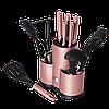 Набір кухонних приладів 6 пр і ножів 5 пр з підставкою, 12 пр Berlinger Haus BH 6252