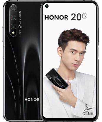 "Смартфон Honor 20S 6/128Gb Black, 48+8+2/32Мп, 6.26"" IPS, 2sim, 4G, 3750мАh, Kirin 810"