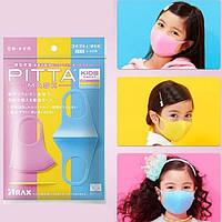 Многоразовая антибактериальная питта-маска для лица детская, 3 шт./уп. Кидс для детей