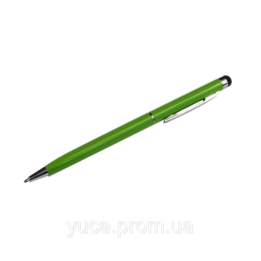 Ємнісний Стилус PS100, з кульковою ручкою, металевий, зелений