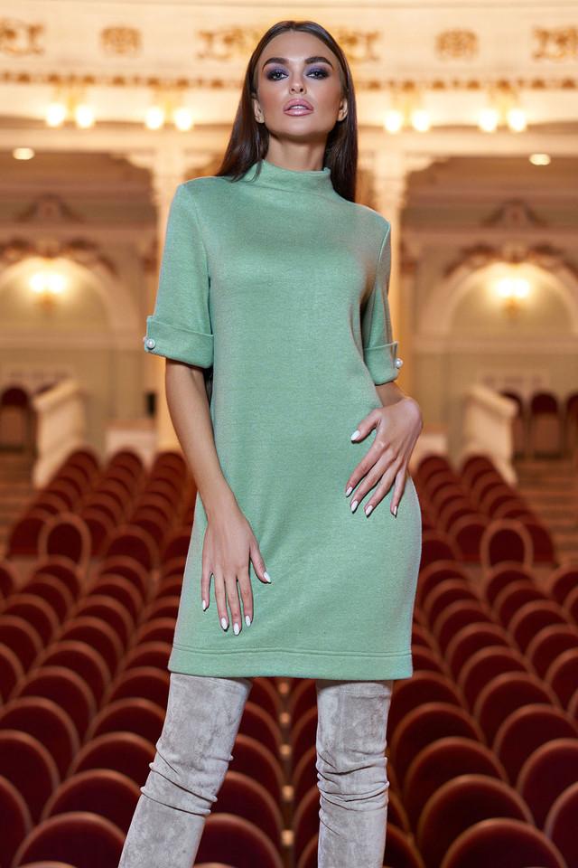 Тёплое короткое платье