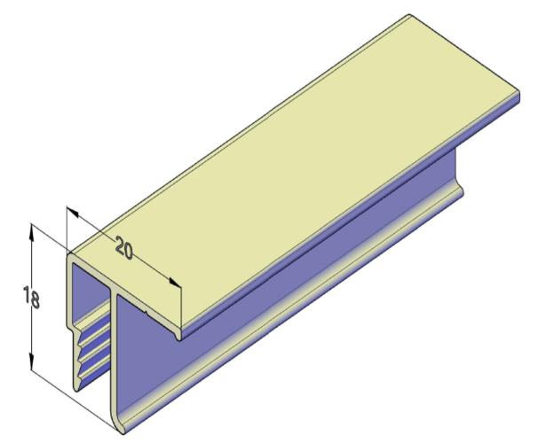 Потолочный алюминиевый профиль для натяжных потолков 2,5 м