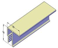 Потолочный алюминиевый профиль для натяжных потолков 2,5 м, фото 1
