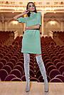 Тёплое короткое платье женское ангора оливковое, фото 2