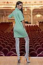 Тёплое короткое платье женское ангора оливковое, фото 3