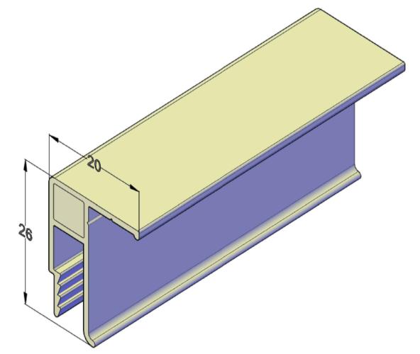 Универсальный алюминиевый профиль для натяжных потолков 2,5 м