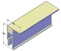 Универсальный алюминиевый профиль для натяжных потолков 2,5 м, фото 1