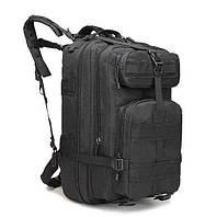 Рюкзак армейский туристический на 30-35л,рюкзак военный тактический черный ,рюкзак штурмовой тактический