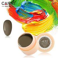 Гель-краска Canni №632 (грязно-коричневая) 5 мл