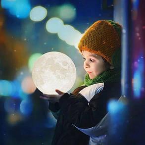Планета Луна ABC 3D лампа, фото 2