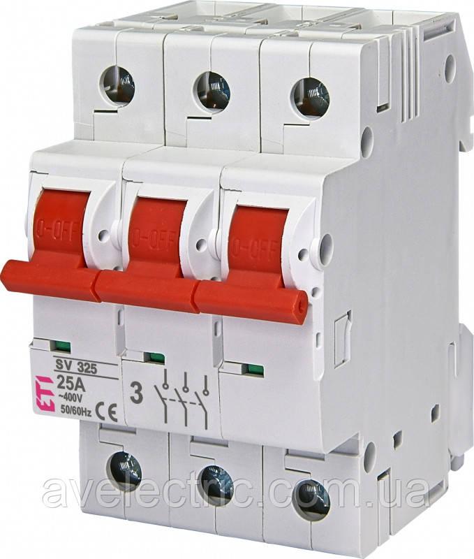 Выключатель нагрузки SV 325  3р 25A, 2423322, ETI