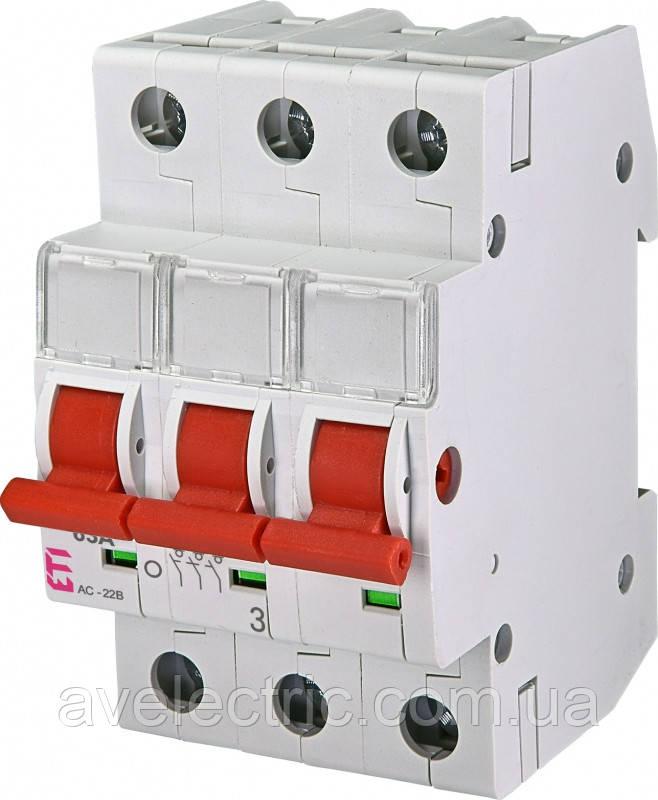 Выключатель нагрузки SV 363  3р 63A, 2423314, ETI