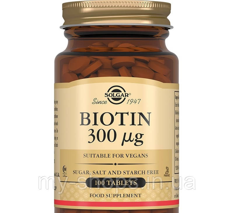 Диетическая добавка Биотин. SOLGAR