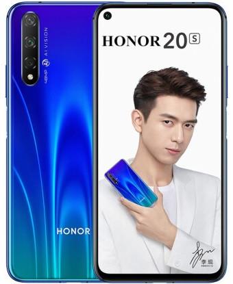 "Смартфон Honor 20S 6/128Gb Blue, 48+8+2/32Мп, 6.26"" IPS, 2sim, 4G, 3750мАh, Kirin 810"