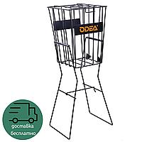 Теннисная корзина для сбора и хранения мячей теннисных на колесиках ODEAR 22 х 24 х 70 см Черный (BT-0465)