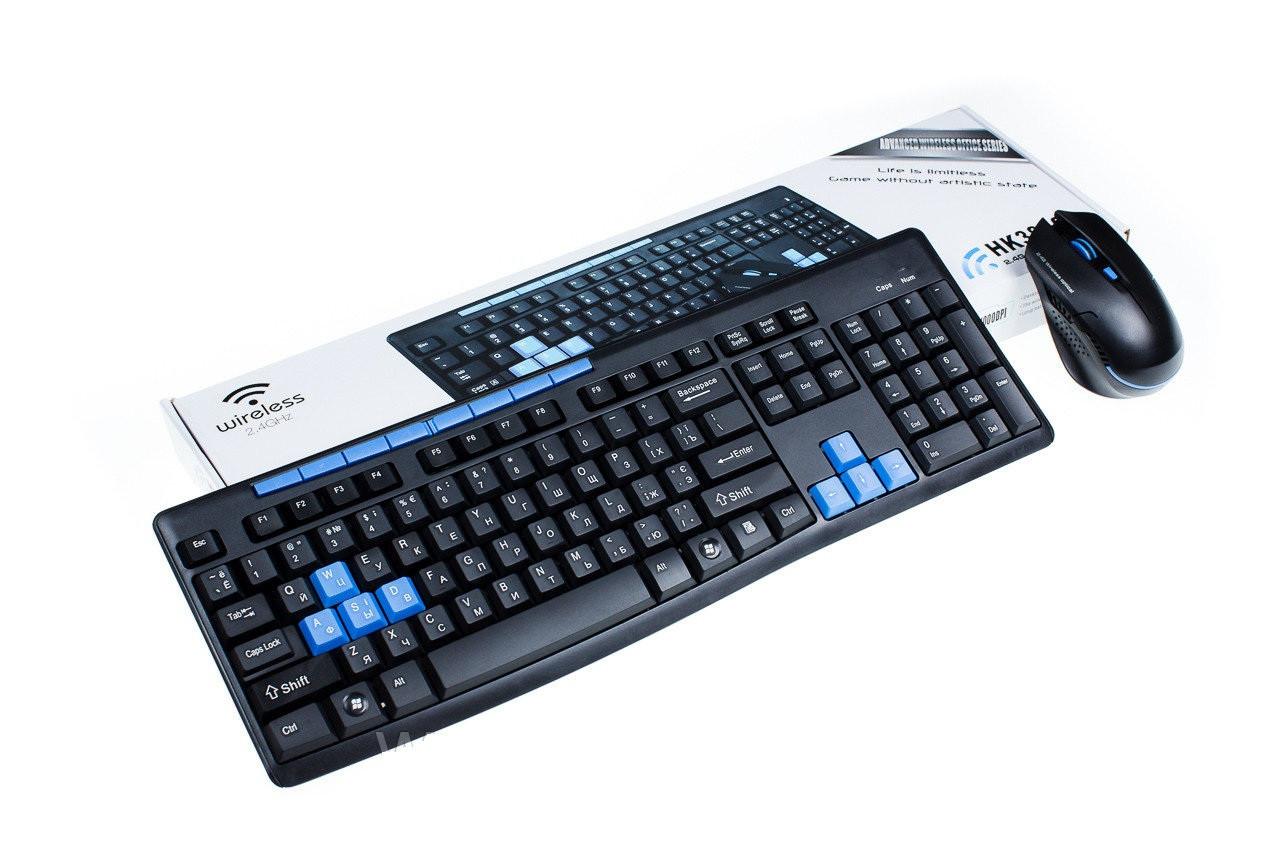 Игровая беспроводная клавиатура и мышь HK3800 | Беспроводная клавиатура + мышка