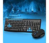 Игровая беспроводная клавиатура и мышь HK3800 | Беспроводная клавиатура + мышка, фото 2