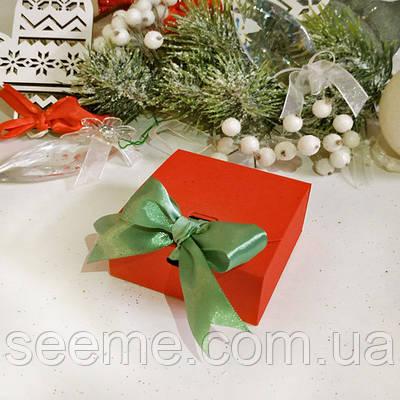 Коробка подарункова 80х80х35 мм, колір можна вибрати з палітри