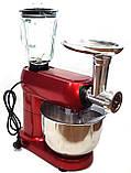 Кухонный комбайн 3в1 тестомес, мясорубка и блендер CROWNBERG Food Processor CB-3404, фото 5