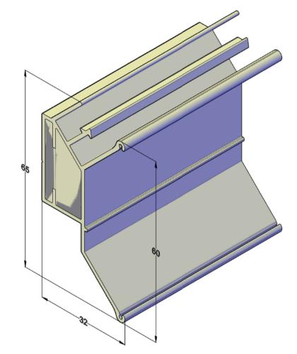 Двухуровневый профиль 45 градусов для натяжных потолков 2,5 м