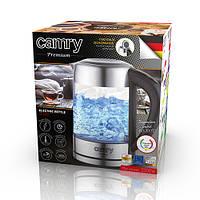 Электрочайник стеклянный Camry CR 1289  объемом 1,7 л с контролем температуры, фото 1