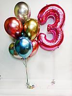 """Готовый набор шаров с гелием №53 """"Для яркой девочки"""""""