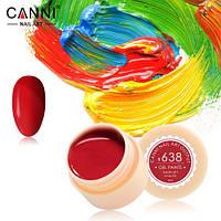 Гель-краска Canni №638 (красная) 5 мл