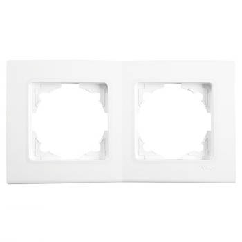 Рамка двойная Viko Linnera горизонтальная  белая