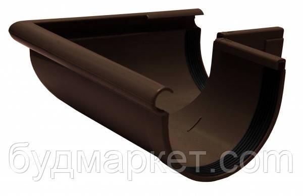 Угол желоба наружный 90 град.коричневый 130 мм RAINWAY