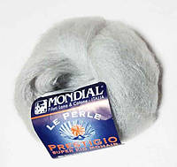 "Пряжа ""Mondial Prestigio"",цвет - светло серый"