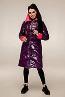 Пуховик  женский зимний, выполнен из двух цветов плащевой ткани, полуприлегающего силуэта с 44 по 54 размер, фото 7