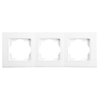 Рамка тройная Viko Linnera горизонтальная белая