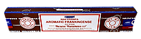 Благовонные палочки натуральные пыльцовые Наг Ароматный Ладан, франкинсенс, Aromatic Frankincense, 15gm, Satya