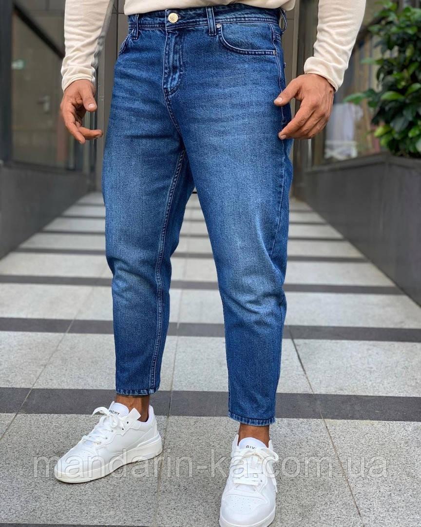 Чоловічі джинси сині мом