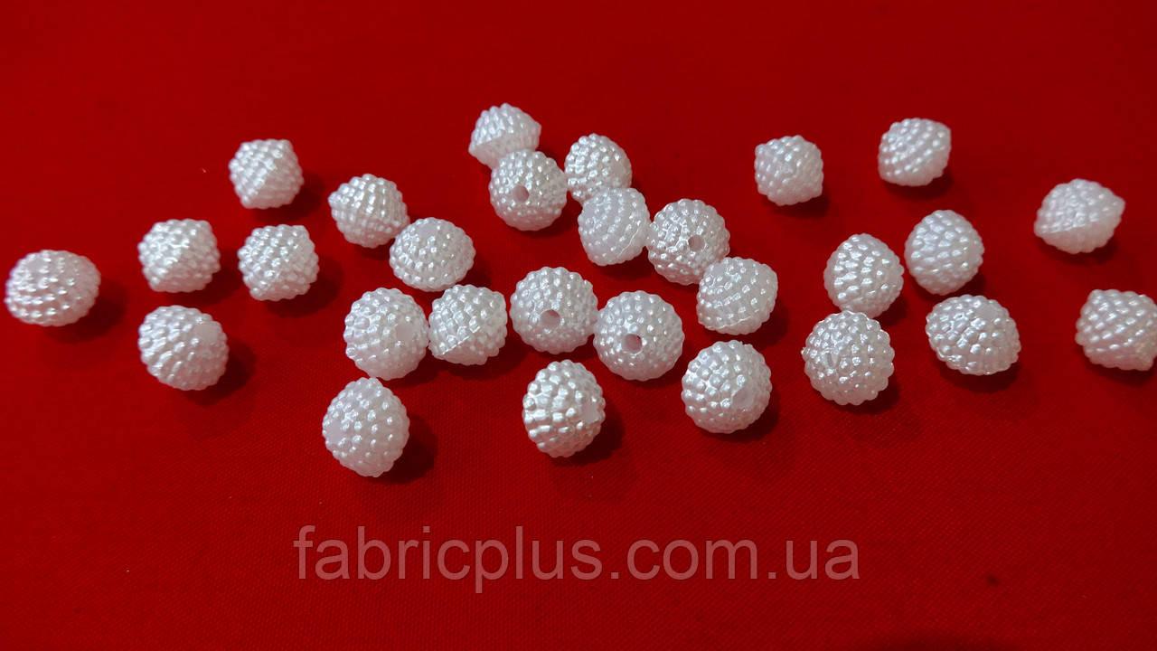 Намистини для біжутерії 8 мм білий пластик