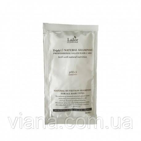 Органический шампунь с экстрактами и маслами LADOR Triplex Natural Shampoo пробник