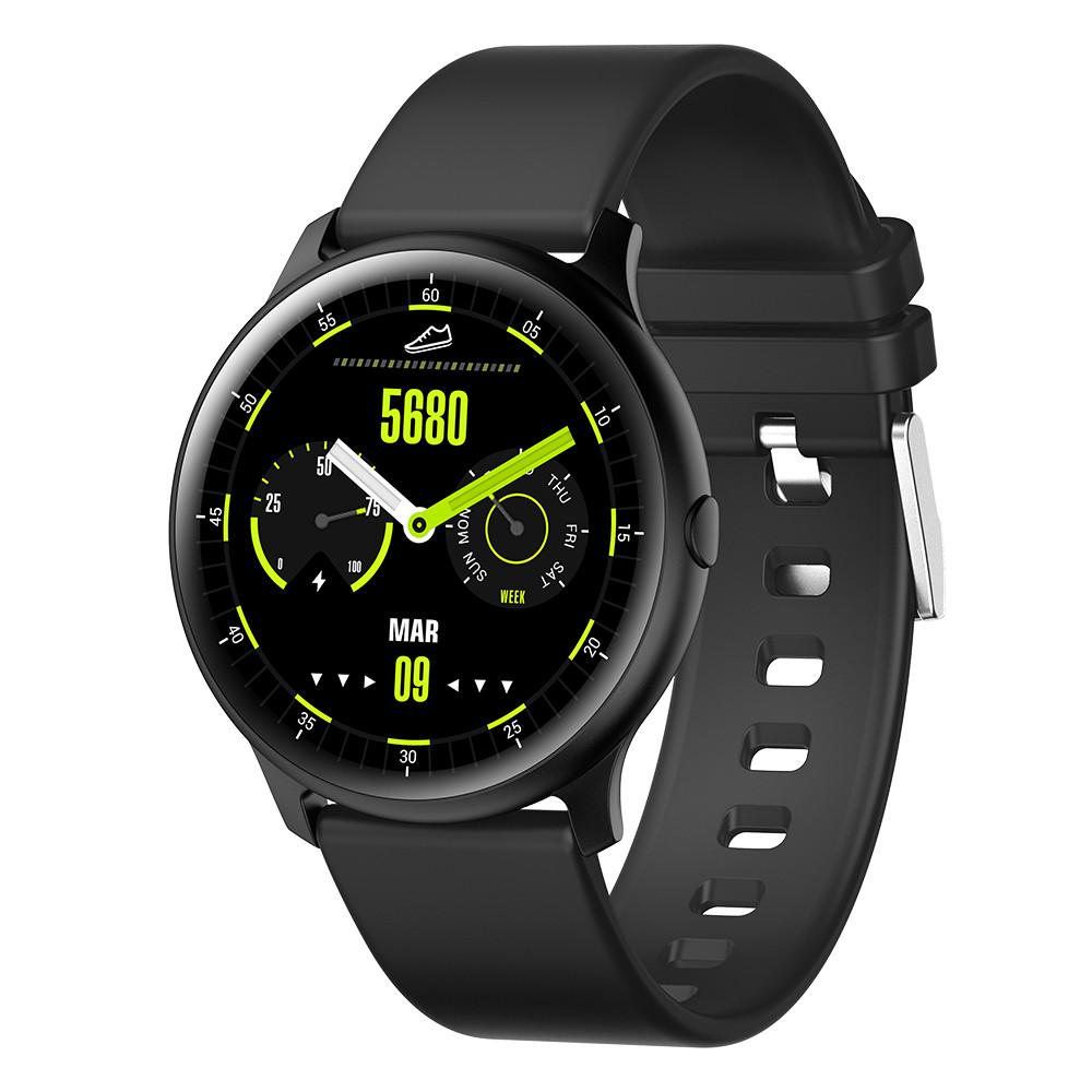 Умные смарт часы King Wear KW13 с AMOLED дисплеем и влагозащитой IP68 (Черный)