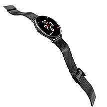 Смарт-годинник фітнес браслет Lemfo SN58 з ультратонким корпусом (Чорний), фото 3