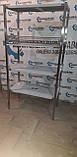 Стеллаж производственный 700х500х1800 4 полки из 201 нержавеющей стали, фото 4
